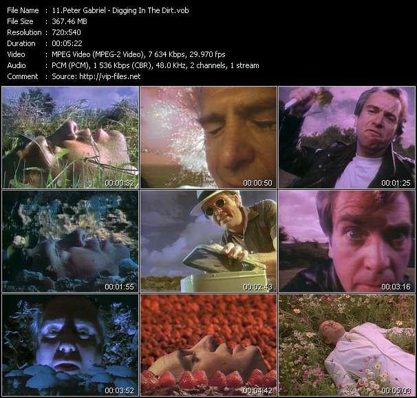 Peter Gabriel video screenshot