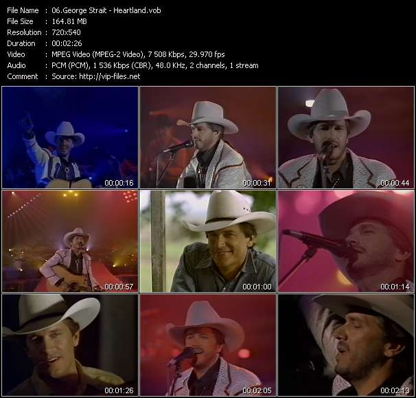 George Strait video screenshot