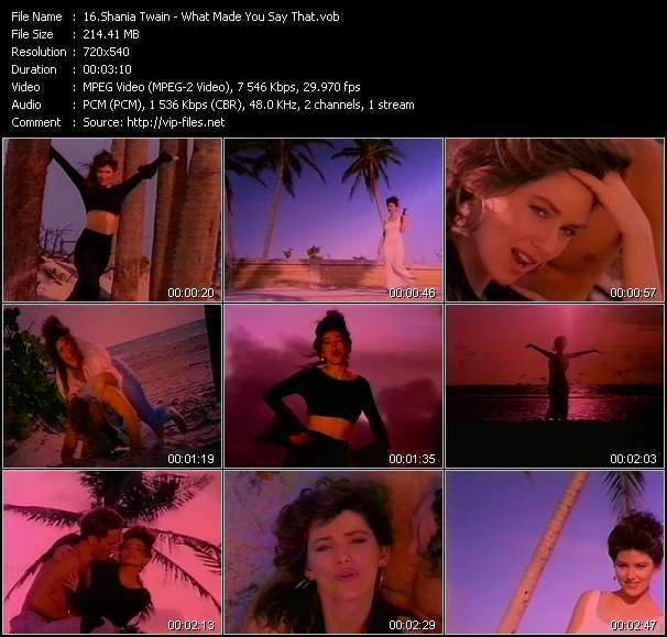 Shania Twain video screenshot