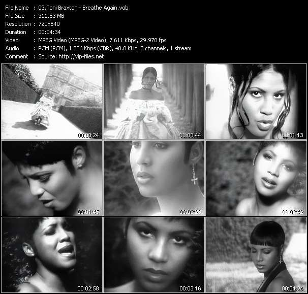 Toni Braxton video screenshot