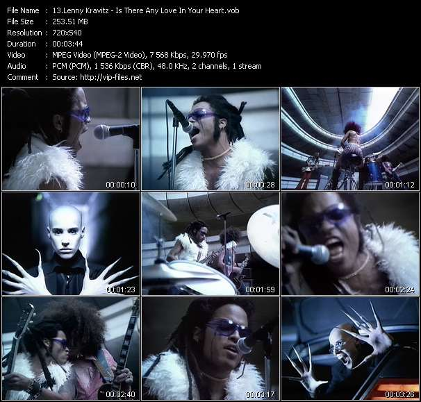 Lenny Kravitz video screenshot