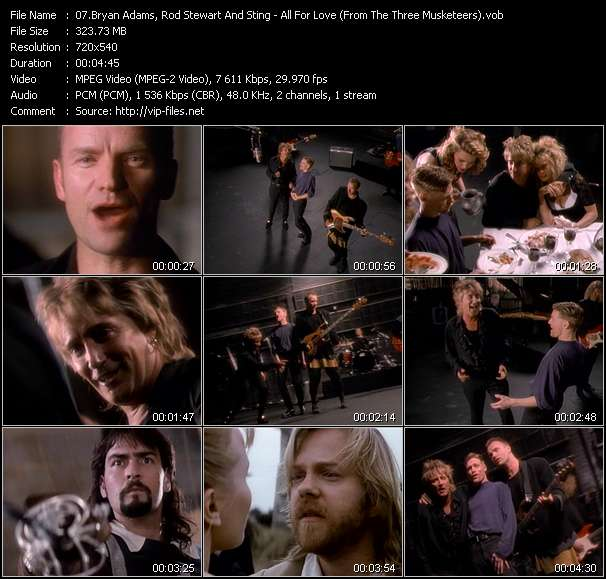 """video All For Love (From """"The Three Musketeers"""") screen"""