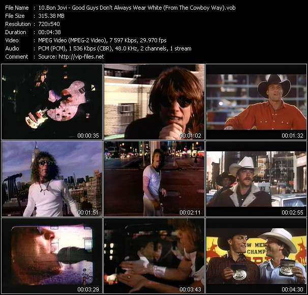 """video Good Guys Don't Always Wear White (From """"The Cowboy Way"""") screen"""
