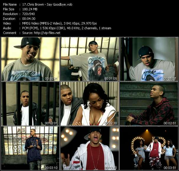 Chris Brown video screenshot