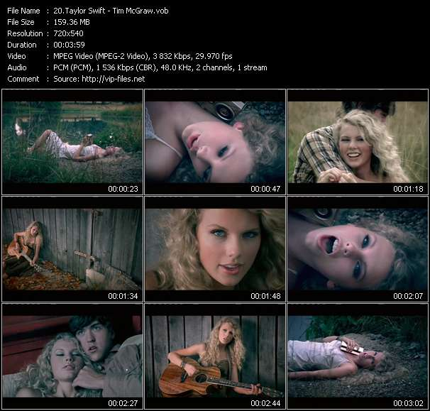 Taylor Swift video screenshot