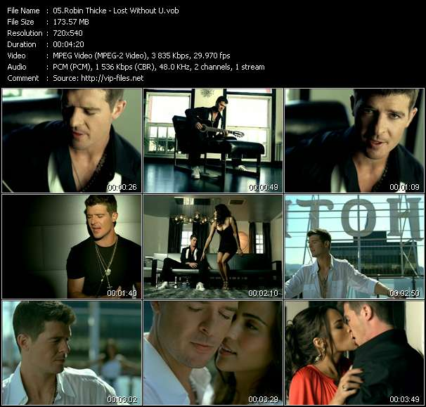 Robin Thicke video screenshot