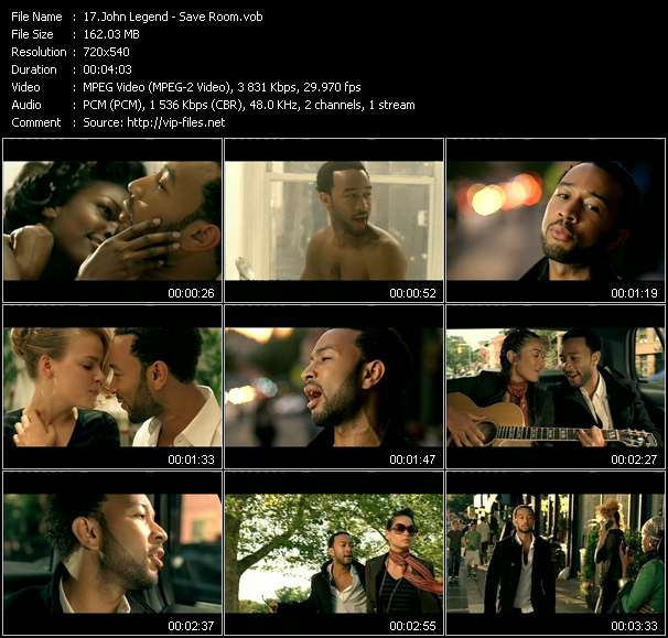 John Legend video screenshot