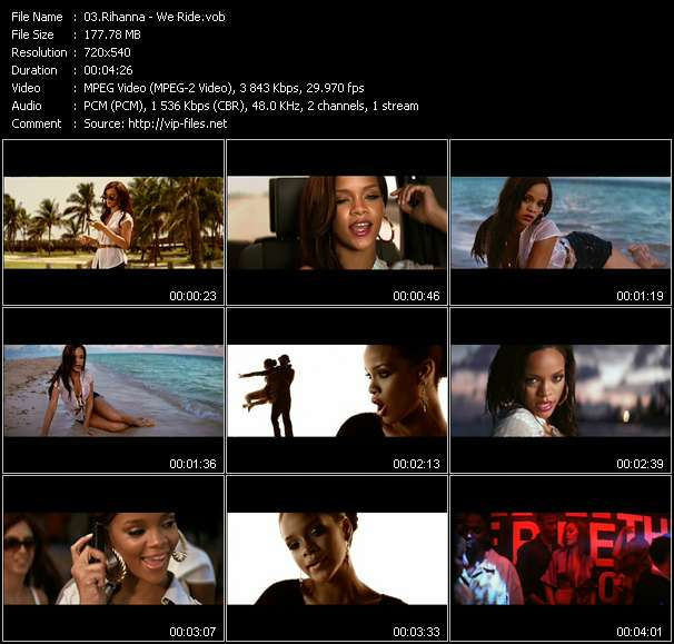 Rihanna video screenshot