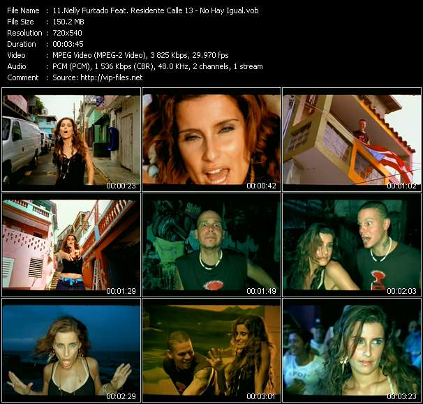 Nelly Furtado Feat. Residente Calle 13 video screenshot
