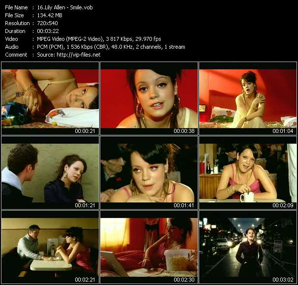 Lily Allen video screenshot