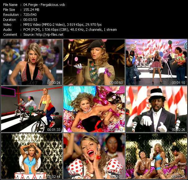 Fergie video screenshot