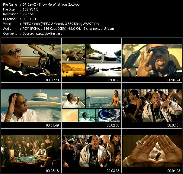 Jay-Z video screenshot