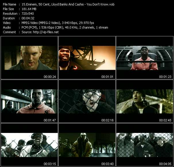 Eminem, 50 Cent, Lloyd Banks And Cashis video screenshot