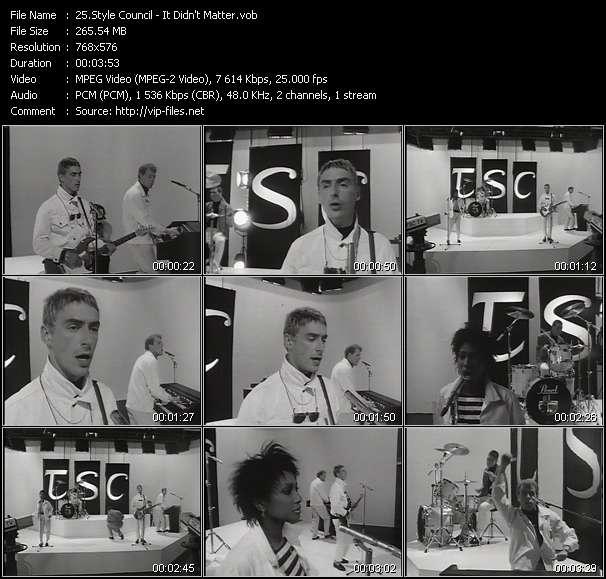 Style Council video screenshot