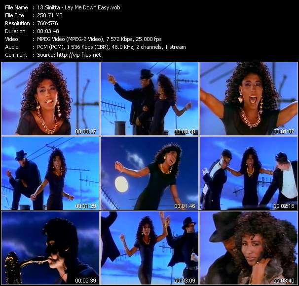 Sinitta video screenshot