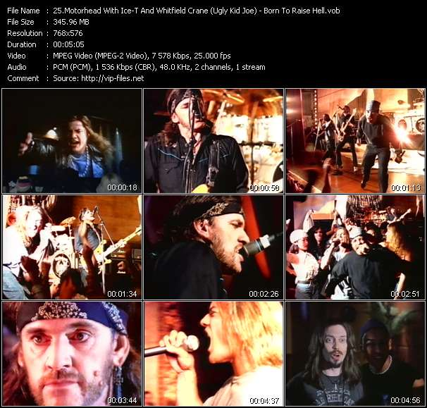 Motorhead With Ice-T And Whitfield Crane (Ugly Kid Joe) video screenshot