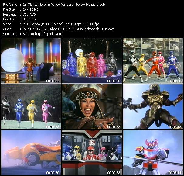 Mighty Morph'n Power Rangers video screenshot