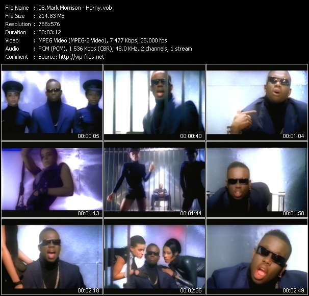 Mark Morrison video screenshot