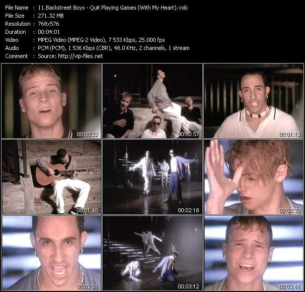 Backstreet Boys video screenshot