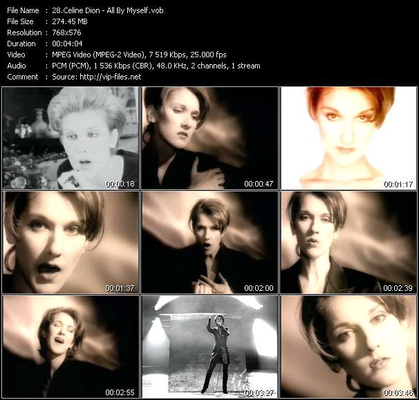 Celine Dion video screenshot