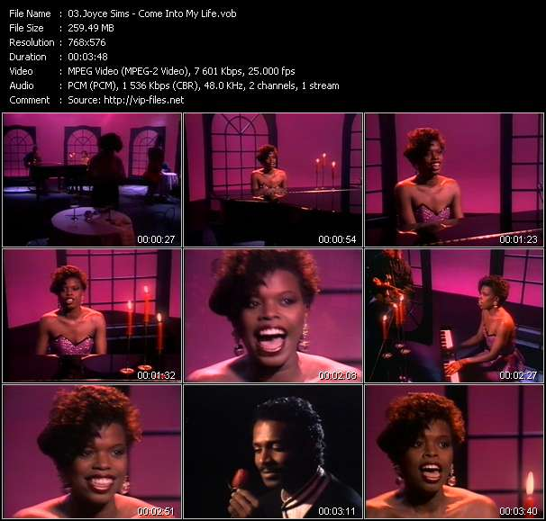 Joyce Sims video screenshot