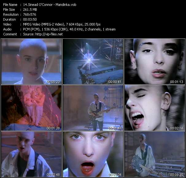 Sinead O'Connor video screenshot