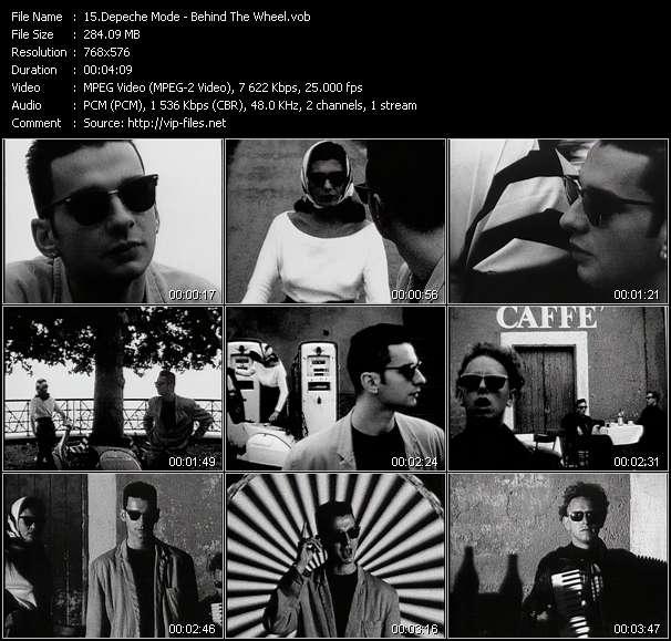 Depeche Mode video screenshot