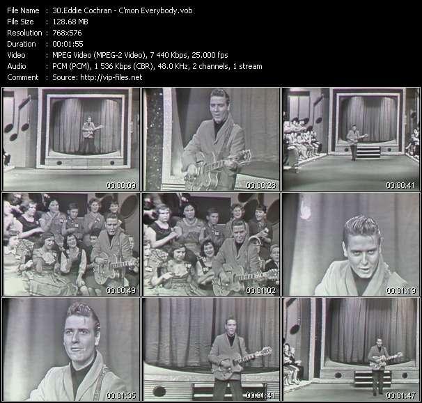 Eddie Cochran video screenshot