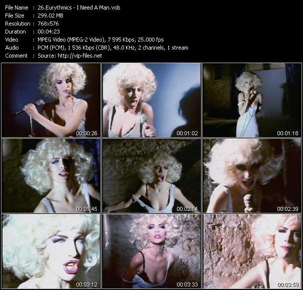 Eurythmics video screenshot