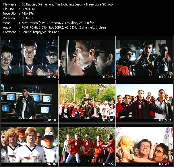 Baddiel, Skinner And The Lightning Seeds video screenshot