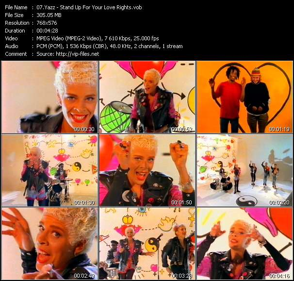 Yazz video screenshot