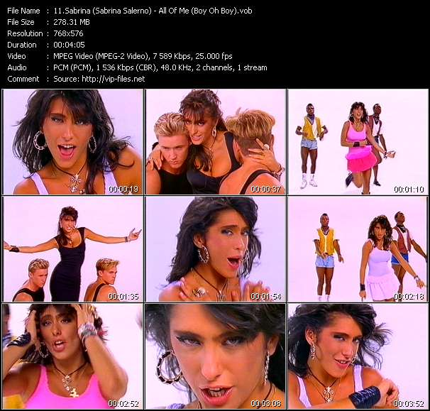Sabrina (Sabrina Salerno) video screenshot