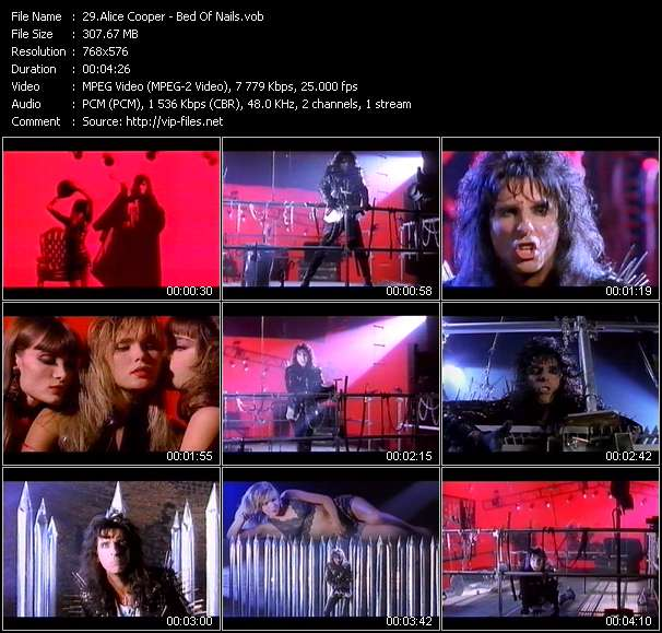 Alice Cooper video screenshot