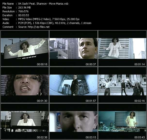 video Move Mania screen