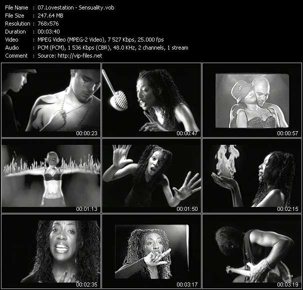 video Sensuality screen