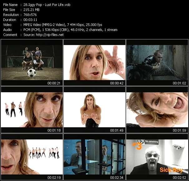 Iggy Pop video screenshot