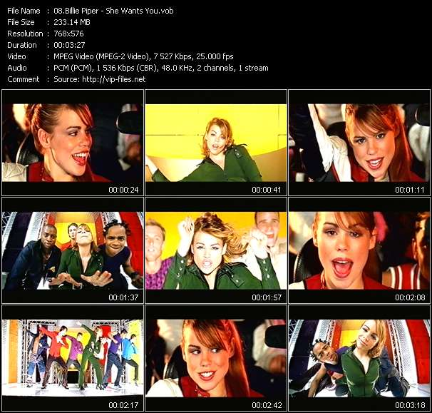 Billie Piper video screenshot