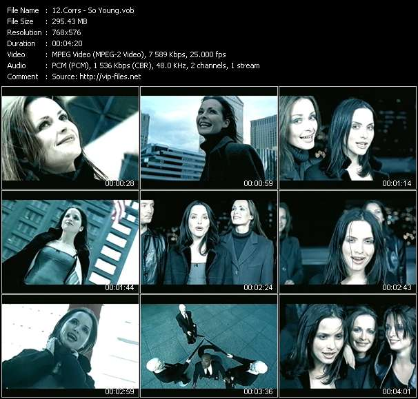 Corrs video screenshot