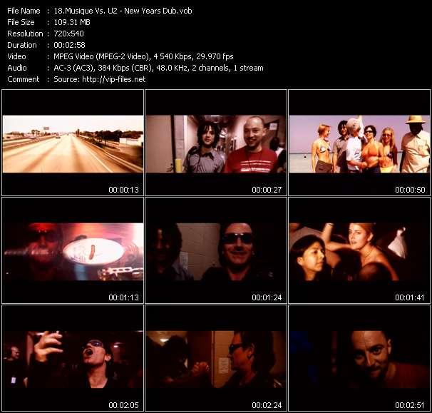 Musique Vs. U2 video screenshot