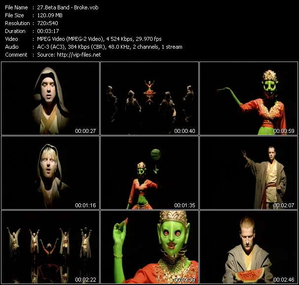 Beta Band video screenshot
