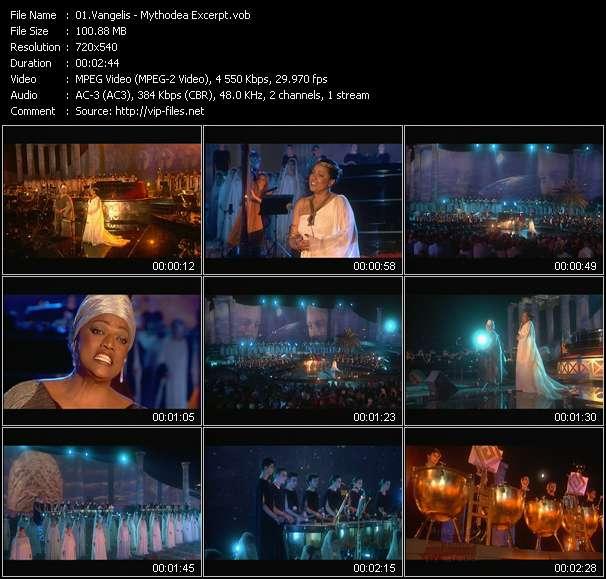 video Mythodea Excerpt screen