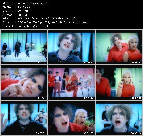 video Just Say Yes screen