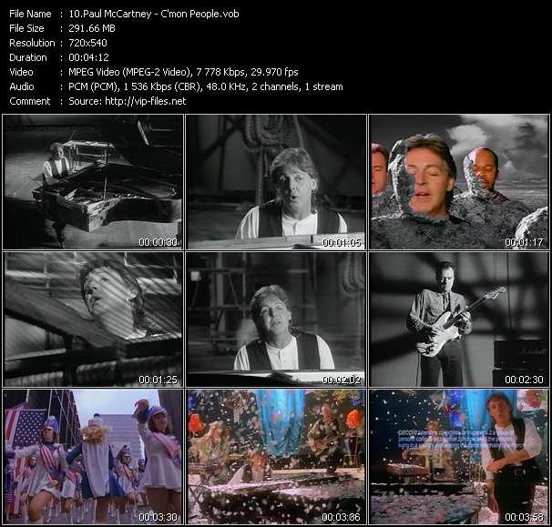 Paul McCartney video screenshot
