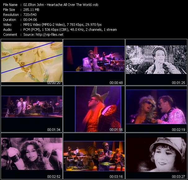 Elton John video screenshot