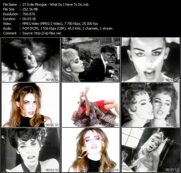 Kylie Minogue video screenshot
