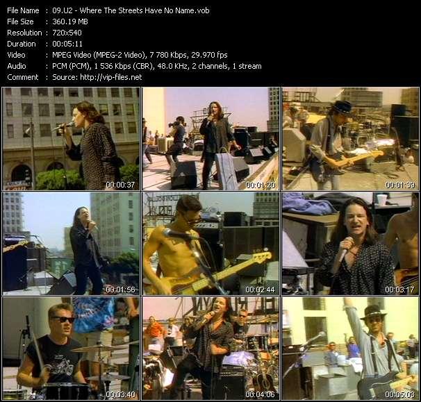 U2 video screenshot