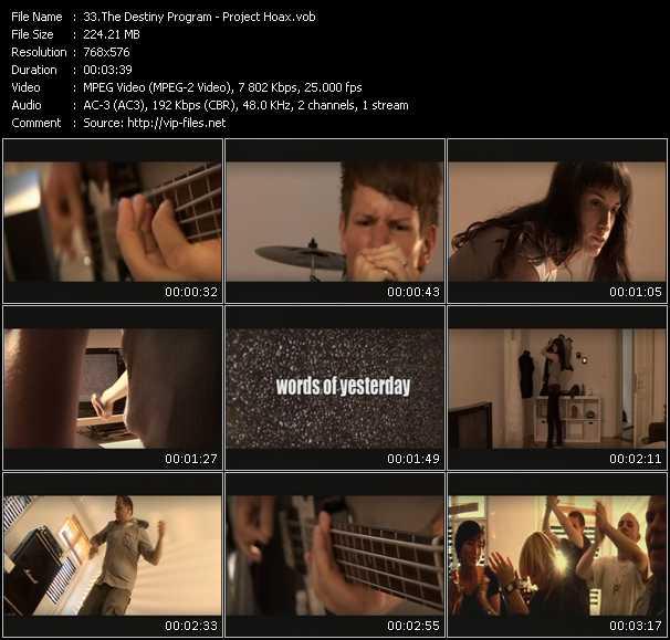 Destiny Program video screenshot