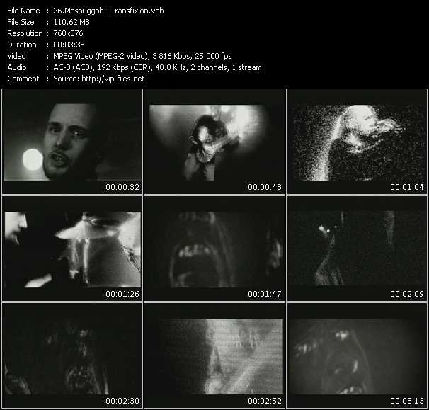 Meshuggah video screenshot