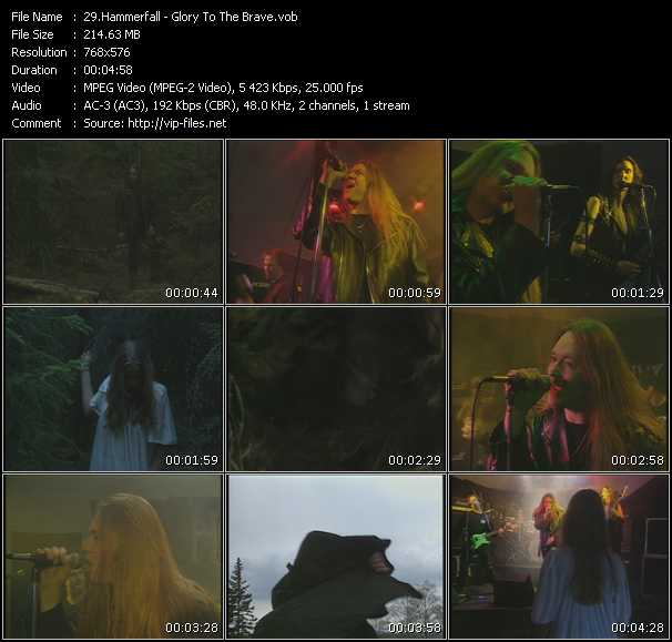 Hammerfall video screenshot