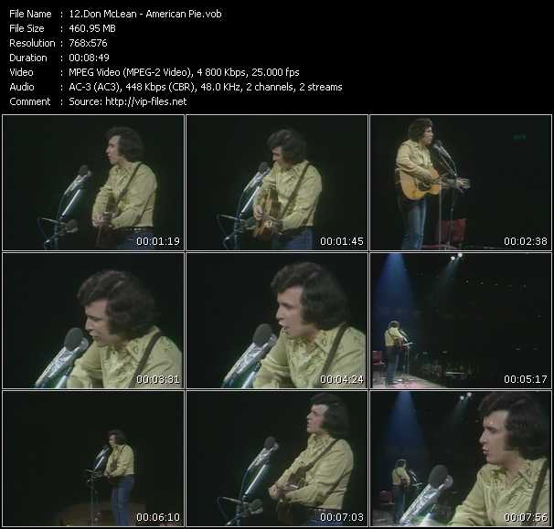 Don McLean video screenshot